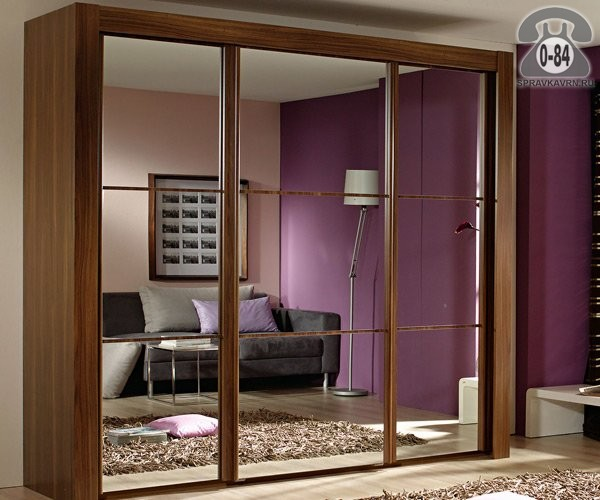 Двери для шкафов-купе зеркальная Россия