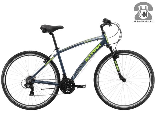 """Велосипед Старк (Stark) Terros 28.2 V (2017), рама 18.5"""" размер рамы 18.5"""" серый"""