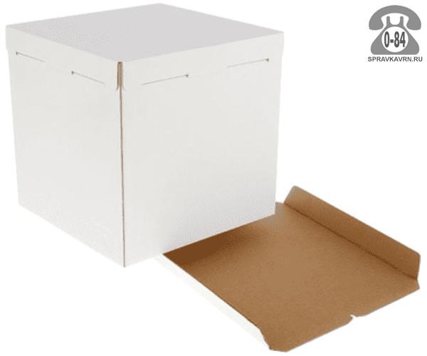 Коробка упаковочная Вотан-тара картон гофрированный (гофрокартон, гофрокороб) для торта