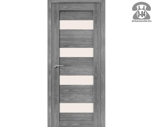 Межкомнатная деревянная дверь ЭльПорта, фабрика (el PORTA) Порта-23 Magic Fog остеклённая 70 см Грей Вералинга (Grey Veralingа)