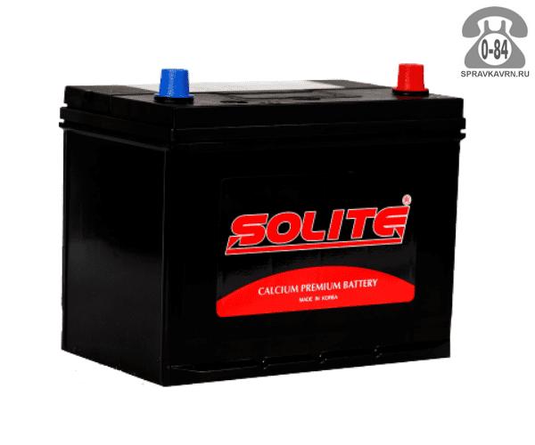 Аккумулятор для транспортного средства Солайт (Solite) 6СТ-85 обратная полярность 260*172*225 мм