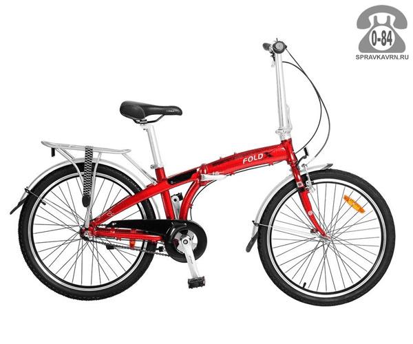 Велосипед FoldX Slider (2017) красный дорожный