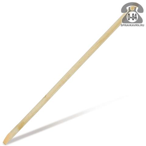 Черенок деревянный 40 мм 1500 мм для лопат и вил высший