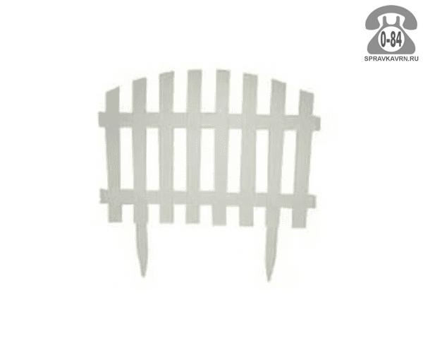 Бордюр садовый Идея (Idea) Волна, 245x35 см, белый