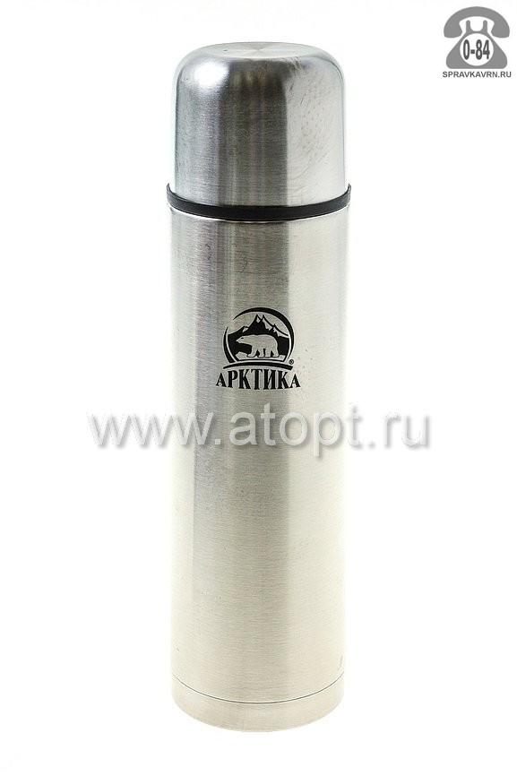 Термос Арктика нержавеющая сталь нержавеющая сталь 1 л 30.7 см для напитков Россия