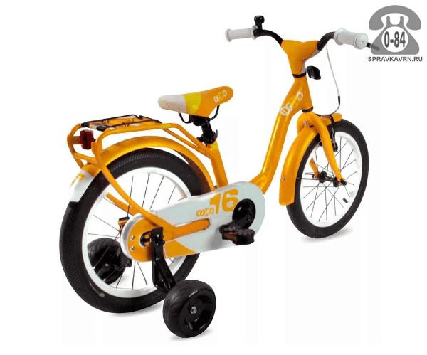 Велосипед Скул (Scool) niXe 16 alloy (2017), оранжевый