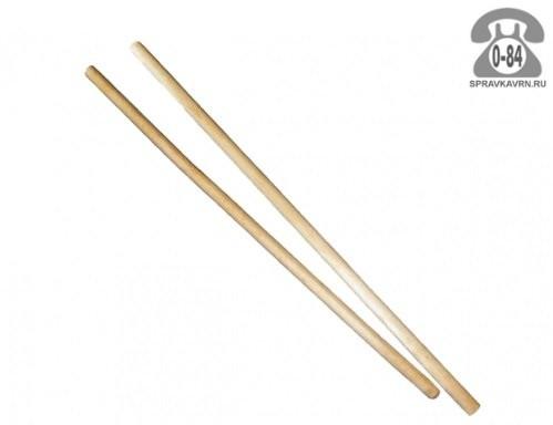 Черенок деревянный для метлы 25 мм первый шлифованная Россия