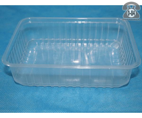 Контейнер пищевой Алькор Центр пластмассовый (пластиковый, полипропиленовый) 0.75 л прямоугольная для СВЧ-печи с крышкой г. Москва