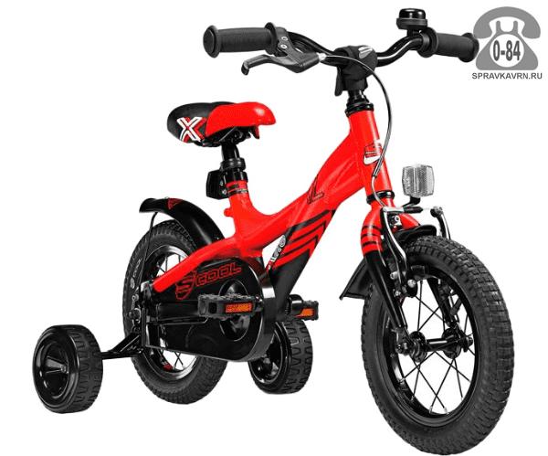 Велосипед Скул (Scool) XXlite 12 alloy (2017), красный