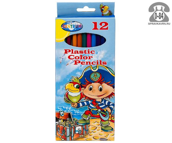 Цветные карандаши Пират цветов 12 картонная коробка