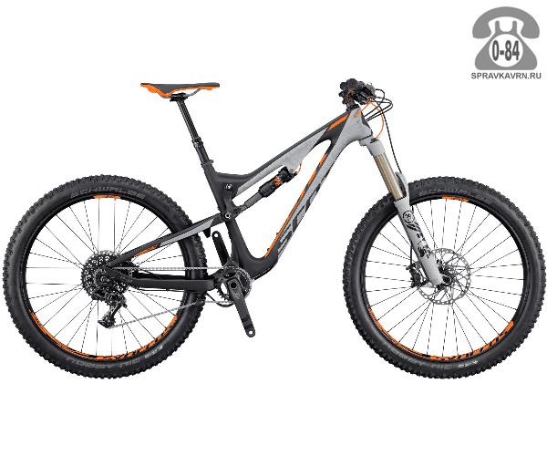 """Велосипед Скотт (Scott) Genius 710 Plus (2016), рама 20.5"""" размер рамы 20.5"""" черный"""