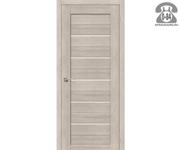 Межкомнатная деревянная дверь ЭльПорта, фабрика (el PORTA) Порта-21 глухая (без стекла) 60см, цвет: капучино вералинга (cappuccino veralinga)
