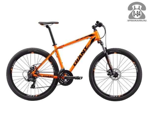"Велосипед Джайнт (Giant) ATX 2 (2017), рама 14.5"", оранжевый размер рамы 14.5"" оранжевый"