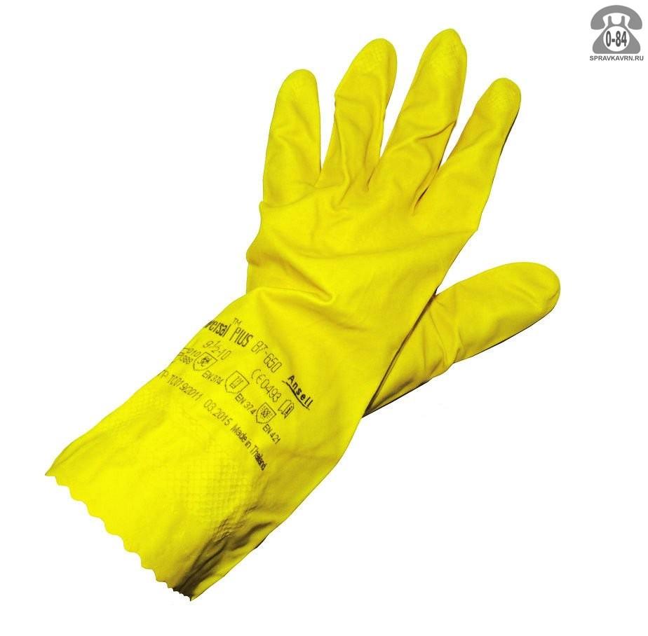 Перчатки Ansell Универсал Plus КЩС до 40% цв. синий