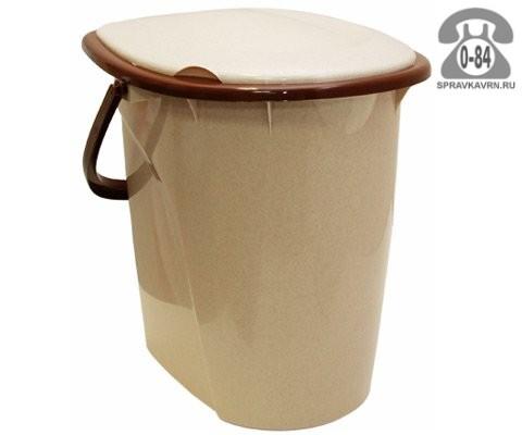 Ведро-туалет пластмассовое 24 л Россия