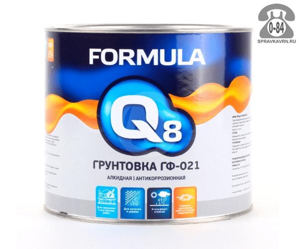Грунтовка Формула Q8 (Formula) ГФ-021 серая 1.9 кг