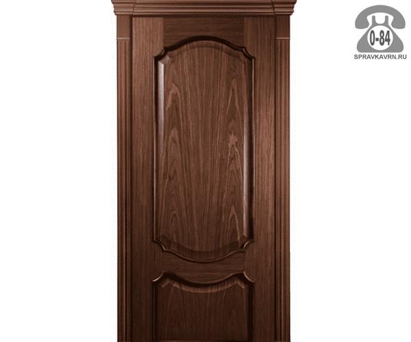 Межкомнатная деревянная дверь Левша, фабрика Верона глухая (без стекла) 80 см шоколад