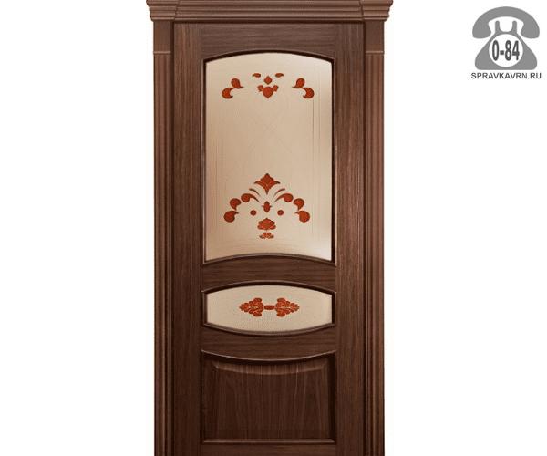 Межкомнатная деревянная дверь Левша, фабрика Алина ПО 70 остеклённая 70 см шоколад