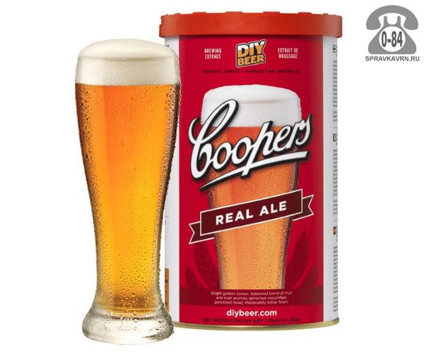 Экстракт солодовый для мини-пивоварен Куперс (Coopers) Традиционный светлый Эль (Real Ale) 23 л Австралия