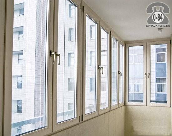 Рама для лоджий, балконов пластиковая (ПВХ) Рехау (Rehau) установка (монтаж)