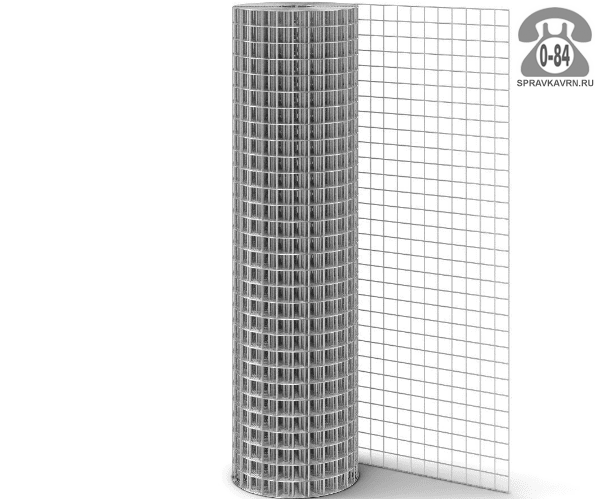 Строительная сетка диаметр 1.6мм  ячейка 25x50мм ширина 1м