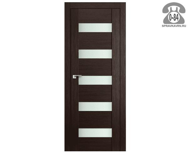 Дверь межкомнатная деревянная ЭльПорта, фабрика (el PORTA) Порта-23 Magic Fog цвет: венге (wenge) остеклённая 90см