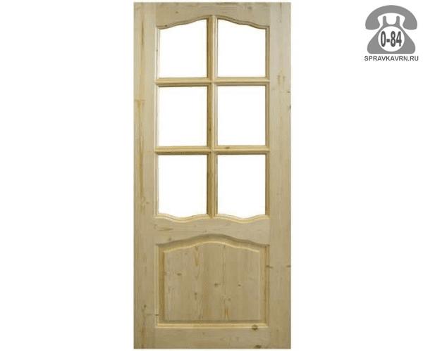 Дверь межкомнатная деревянная распашная филёнчатая сосна