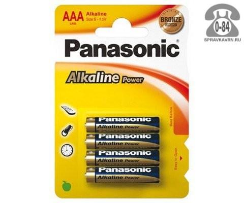 Батарейка Панасоник (Panasonic) алкалиновая ААА (LR03, R03) 1.5 В блистер 4 шт. Польша