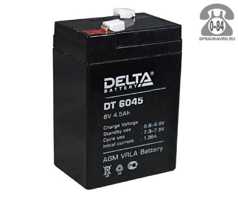 Аккумулятор для источника бесперебойного питания Дельта (Delta) DT 6045 AGM