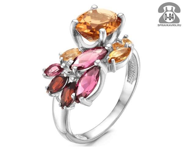 Кольцо серебро полудрагоценный камень