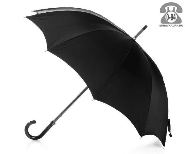 Зонт зонт-трость чёрный мужской Китай