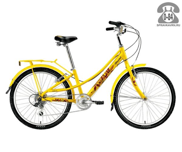 "Велосипед Форвард (Forward) Azure 24 (2017) размер рамы 13"" желтый"