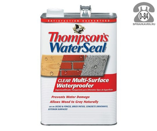 Пропитка Томсонз (Thompson's) гидрофобная (водоотталкивающая, гидрофобизатор)
