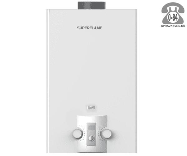 Газовая колонка Суперфлайм (Superflame) SF0320 10L 20 кВт 10л/мин открытая камера