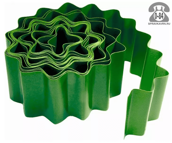 Бордюр садовый Натериал (NATERIAL) полипропилен лента 900 см 20 см зеленый Россия
