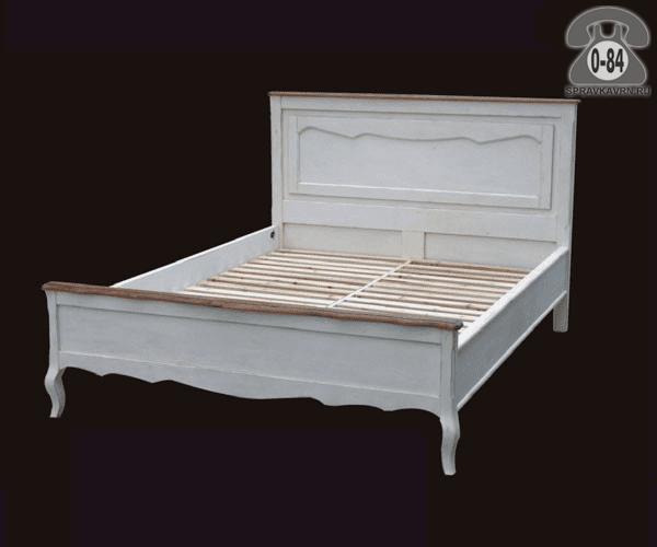 Кровать Белая карамель 2000х1600х1200 2-спальная 2000х1600 мм