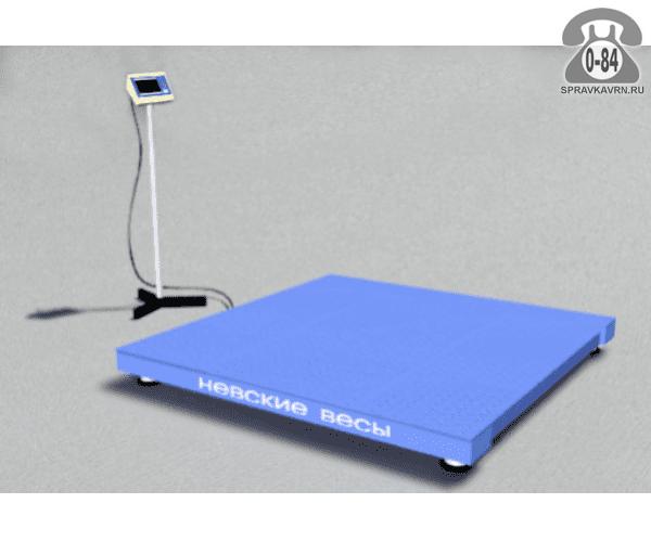 Весы товарные ВСП4-А платформа 750*750мм 300кг точность 100г