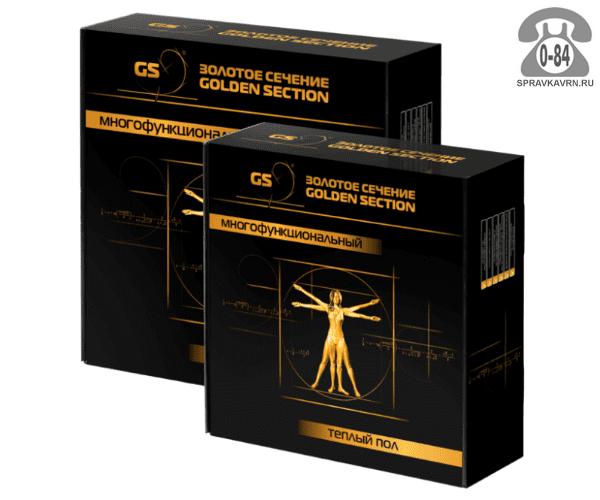 Тёплый пол Золотое сечение (Golden Section) GS 240-15,0 электрический нагревательная секция в стяжку (плиточный клей) 240 Вт 1.5 м2 Россия