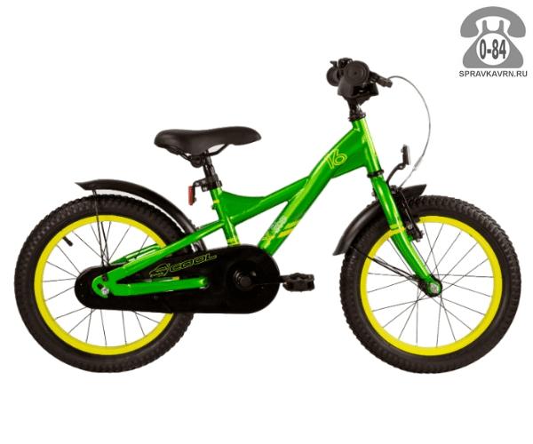 Велосипед Скул (Scool) XXlite 16 steel (2017), зеленый