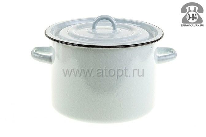 кастрюля эмалированная 5,5 л (1с 55К) белая (Россия)