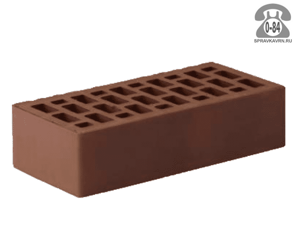 Кирпич облицовочный керамический Рязанский кирпичный завод М150 одинарный коричневый гладкая г. Рязань