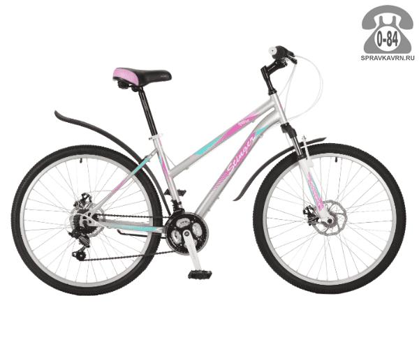"""Велосипед Стингер (Stinger) Latina D 26 (2017), рама 15.5"""", серый размер рамы 15.5"""" серый"""