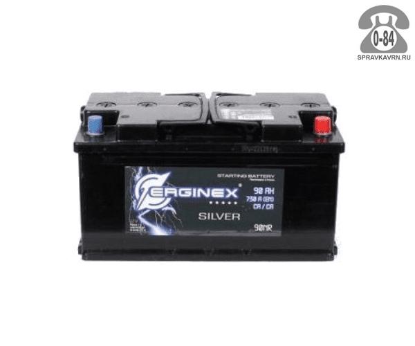 Аккумулятор для транспортного средства Эрджинекс (Erginex) 6СТ-90 обратная полярность 352*175*190 мм
