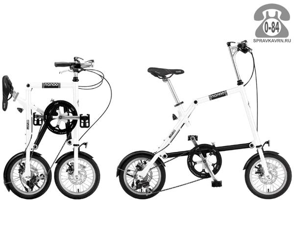 Велосипед Нэну (Nanoo) 148 (2016), белый