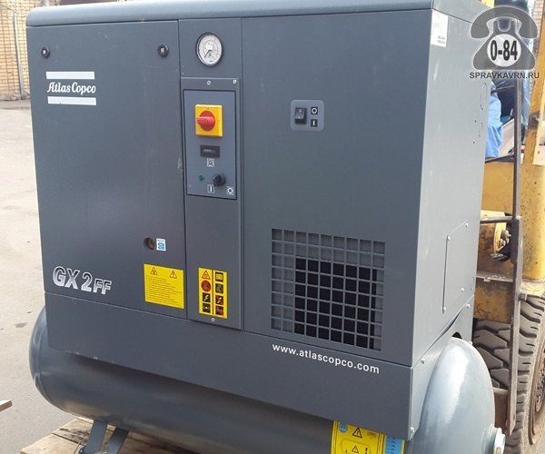 Компрессор Атлас Копко (Atlas Copco) GX-2-10 FF 2.2 кВт 10 бар 240 л/мин 1420*550*1280