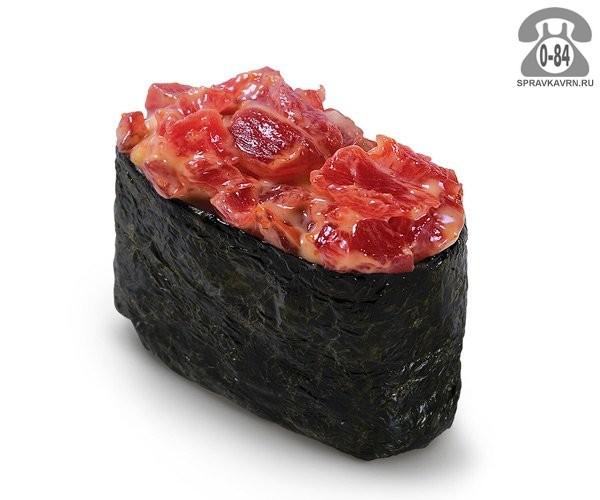 Суши Спайси магуро гункан спайс с тунцом 30 г на дом