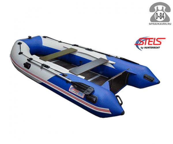 Лодка надувная Hunterboat STELS 315, синий/белый