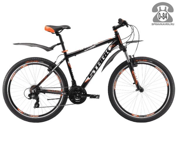 """Велосипед Старк (Stark) Indy 26.2 V (2017), рама 20.5"""" размер рамы 20.5"""" черный"""