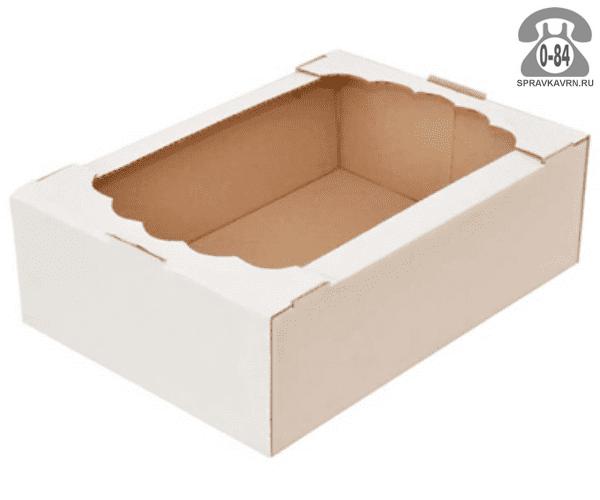 Коробка упаковочная Вотан-тара картон гофрированный (гофрокартон, гофрокороб) для кондитерских изделий