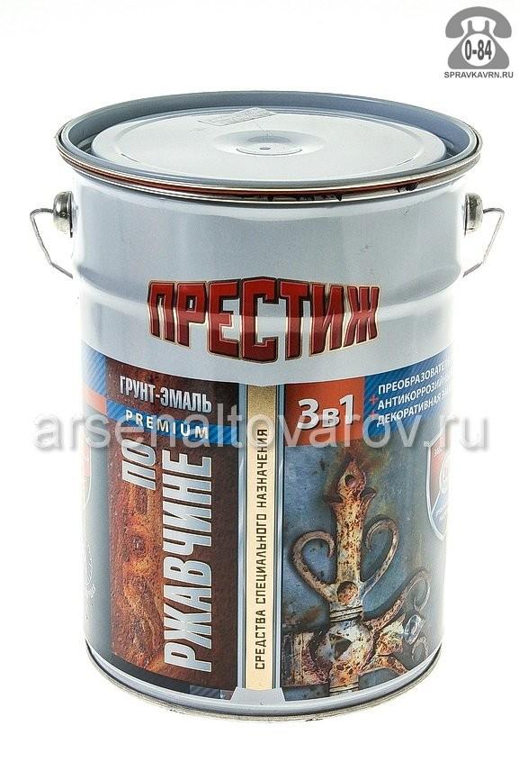 грунт-эмаль по ржавчине Престиж черная 5 кг (Ростов)